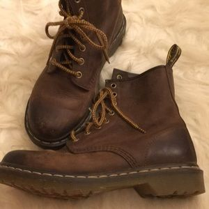 Brown Dr. Martens boots